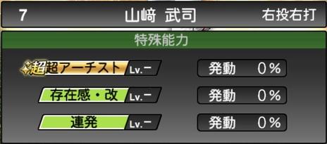プロスピA山﨑武司2020シリーズ2の特殊能力