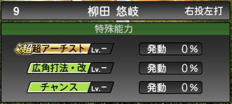 プロスピA柳田悠岐2020シリーズ2の特殊能力