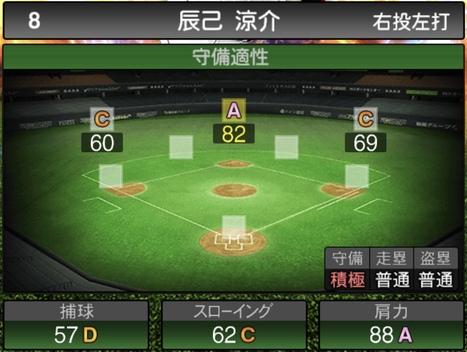 プロスピA辰己涼介2020シリーズ2の守備評価