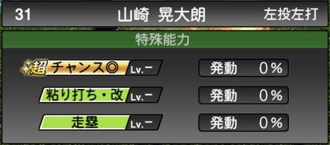 プロスピA山崎晃大朗2020シリーズ2の特殊能力