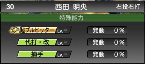 プロスピA西田明央2020シリーズ2の特殊能力