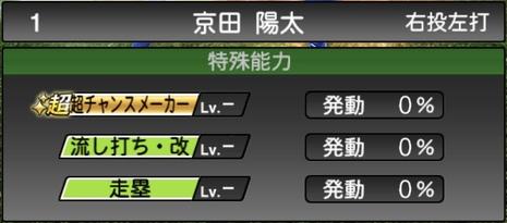 プロスピA京田陽太2020シリーズ2の特殊能力