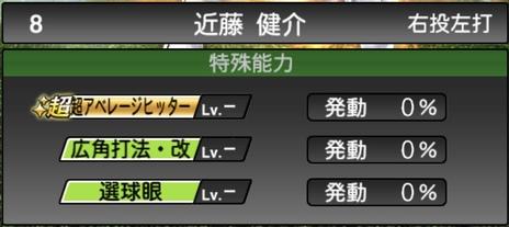 プロスピA近藤健介2020シリーズ2の特殊能力