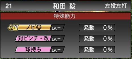 プロスピA和田毅2020シリーズ2の特殊能力