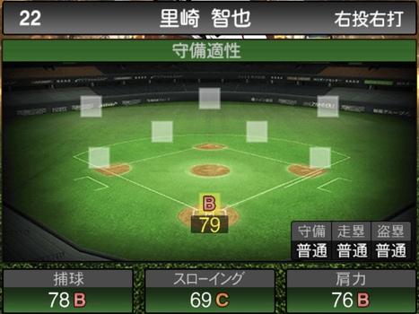 プロスピA里崎智也2020シリーズ2OBチャンピオンシップスターズの守備評価