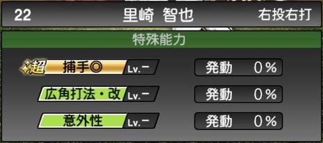 プロスピA里崎智也2020シリーズ2OBチャンピオンシップスターズの特殊能力