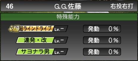 プロスピAG.G.佐藤2020シリーズ2OBチャンピオンシップスターズの特殊能力