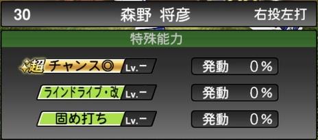 プロスピA森野将彦2020シリーズ2OBチャンピオンシップスターズの特殊能力