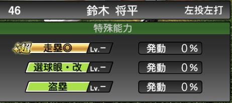 プロスピA鈴木将平2020シリーズ2の特殊能力