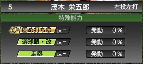 プロスピA茂木栄五郎2020シリーズ2の特殊能力