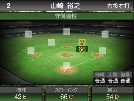 プロスピA山崎裕之2020シリーズ2の守備評価