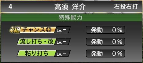 プロスピA高須洋介2020シリーズ2の特殊能力