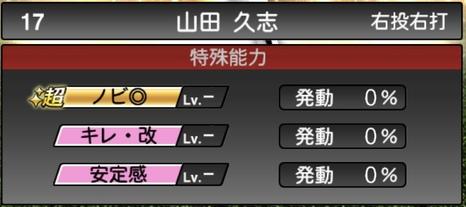 プロスピA山田久志2020シリーズ2OB第4弾の特殊能力