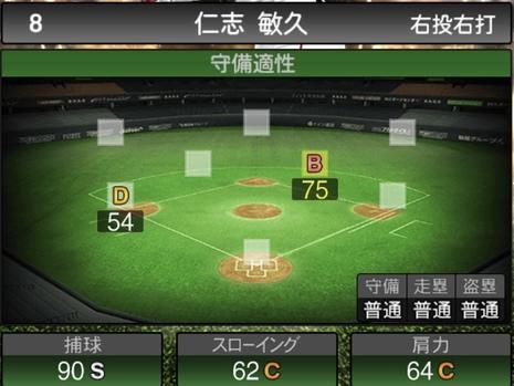 プロスピA仁志敏久2020シリーズ2の守備評価