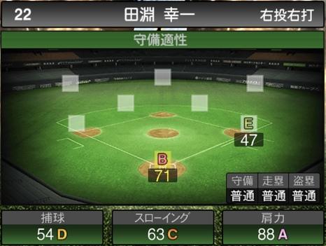プロスピA田淵幸一2020シリーズ2の守備評価