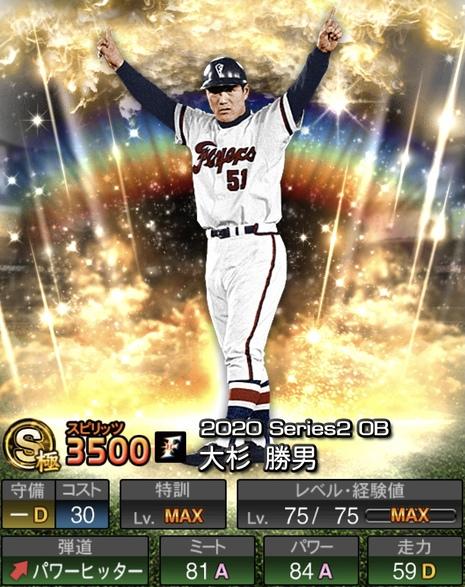 プロスピA大杉勝男2020OB第5弾シリーズ2の評価