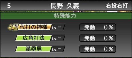 プロスピA長野久義2021シリーズ1の特殊能力