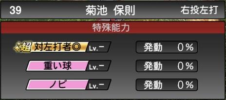 プロスピA菊池保則2021シリーズ1の特殊能力