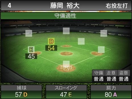 プロスピA藤岡裕大2021シリーズ1の守備評価