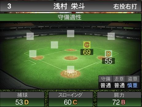 プロスピA浅村栄斗2021シリーズ1の守備評価
