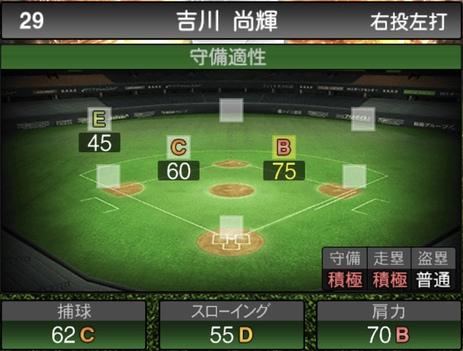 プロスピA吉川尚輝2021シリーズ1の守備評価
