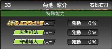 プロスピA菊池涼介2021シリーズ1の特殊能力