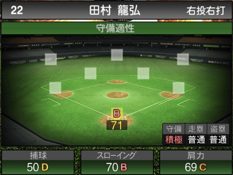 プロスピA田村龍弘2021シリーズ1の守備評価
