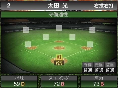 プロスピA太田光2021シリーズ1の守備評価