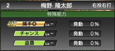 プロスピA梅野隆太郎2021シリーズ1の特殊能力