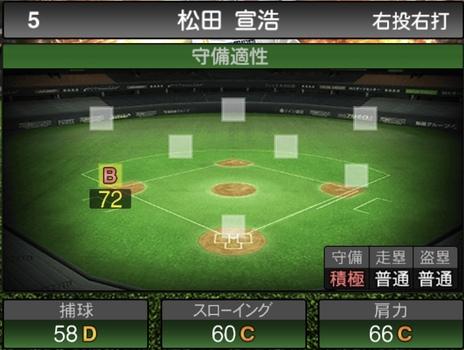 プロスピA松田宣浩2021シリーズ1の守備評価