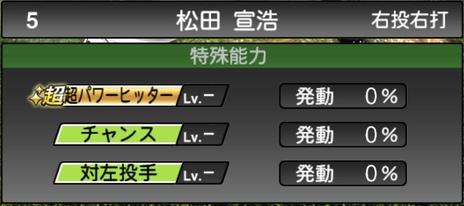 プロスピA松田宣浩2021シリーズ1の特殊能力
