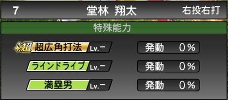 プロスピA堂林翔太2021シリーズ1の特殊能力