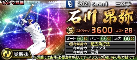 プロスピA2021覚醒期待の若手石川昂弥の評価
