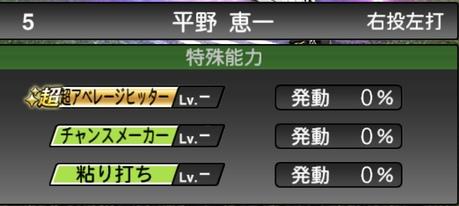 プロスピA平野恵一2021シリーズ1TSの特殊能力