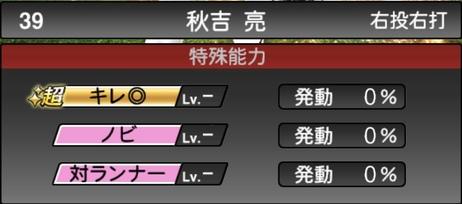 プロスピA秋吉亮2021シリーズ1の特殊能力
