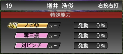 プロスピA増井浩俊2021シリーズ1TSの特殊能力
