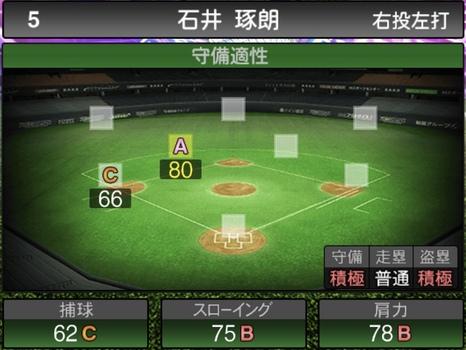 プロスピA石井琢朗2021シリーズ1TSの守備評価