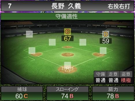 プロスピA長野久義2021シリーズ1TSの守備評価