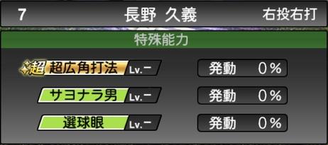 プロスピA長野久義2021シリーズ1TSの特殊能力