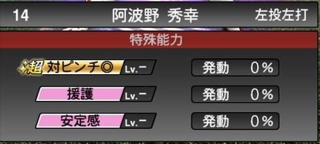 プロスピA阿波野秀幸2021シリーズ1TSの特殊能力
