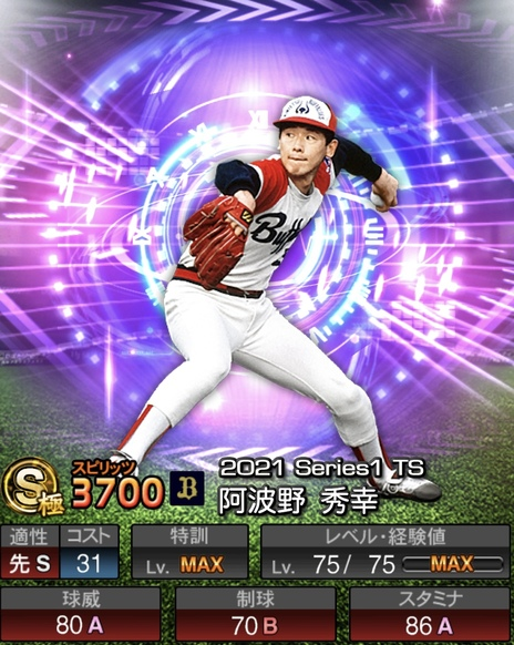 プロスピA阿波野秀幸2021シリーズ1TSの評価