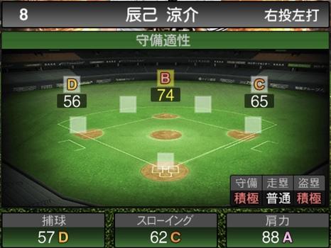 プロスピA辰己涼介2021シリーズ1の守備評価