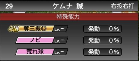プロスピAケムナ誠2021シリーズ1の特殊能力