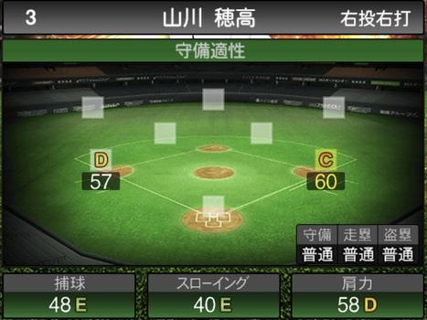 プロスピA山川穂高2021シリーズ1の守備評価