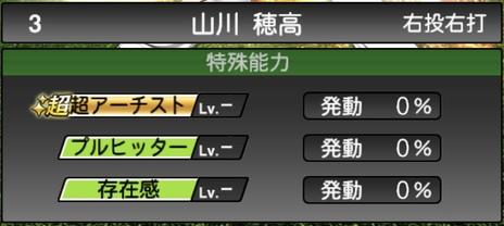 プロスピA山川穂高2021シリーズ1の特殊能力