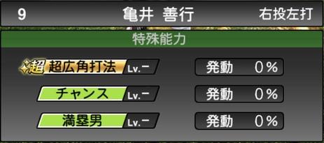プロスピA亀井善行2021シリーズ1の特殊能力
