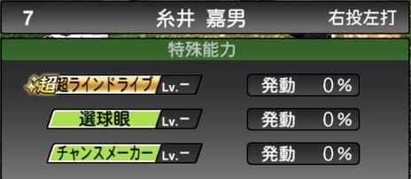 プロスピA糸井嘉男2021シリーズ1の特殊能力