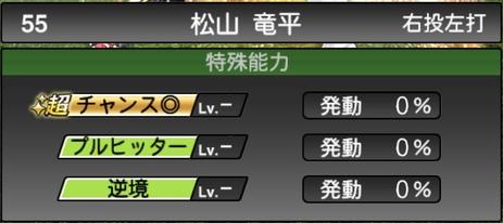 プロスピA松山竜平2021シリーズ1の特殊能力