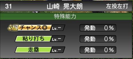 プロスピA山崎晃大朗2021シリーズ1の特殊能力