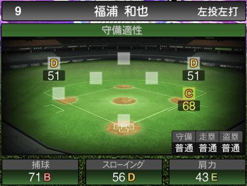 プロスピA福浦和也2021シリーズ1TSの守備評価